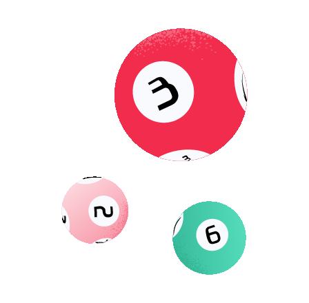 Dos números del bono de Oz Lotto de Australia