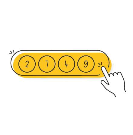 Panel de juego de la lotería de Japón