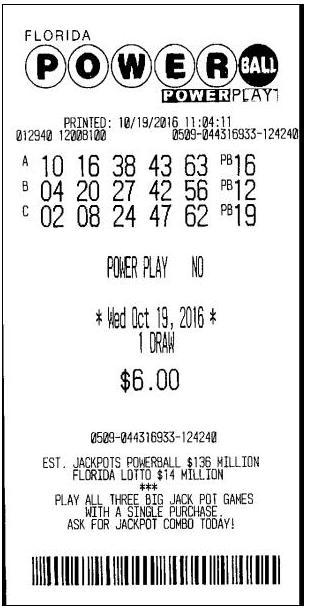 boleto lotería escaneado