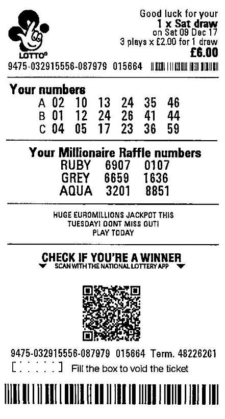 boleto lotreria