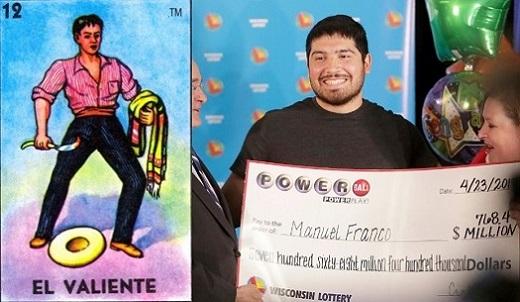 la carta del valiente y un ganador de lotería